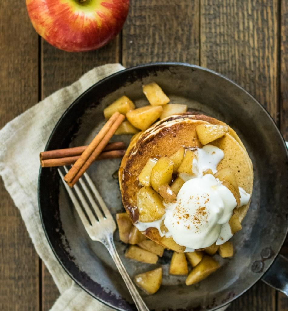 Gluten Free Apple Pie Pancakes | Reclaiming Yesterday