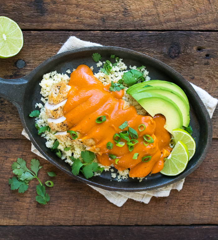 Chicken with Sweet Potato Enchilada Sauce