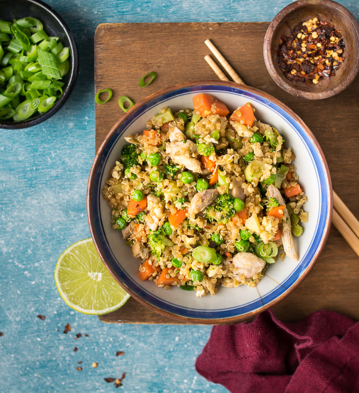 Quinoa Fried Rice with Chicken | Reclaiming Yesterday