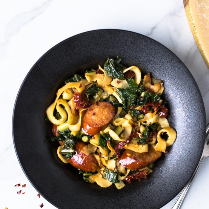 Parsnip Noodles with Turkey Kielbasa | Reclaiming Yesterday