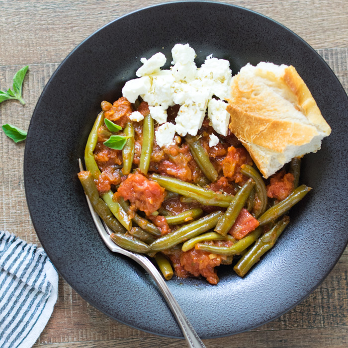 Greek Style Green Beans (Fasolakia)