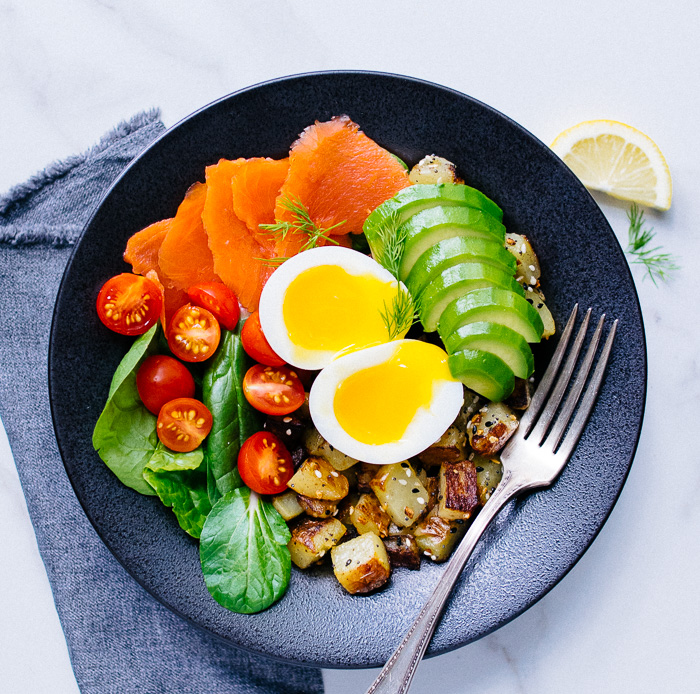 Soft Boiled Egg and Smoked Salmon Breakfast Bowl