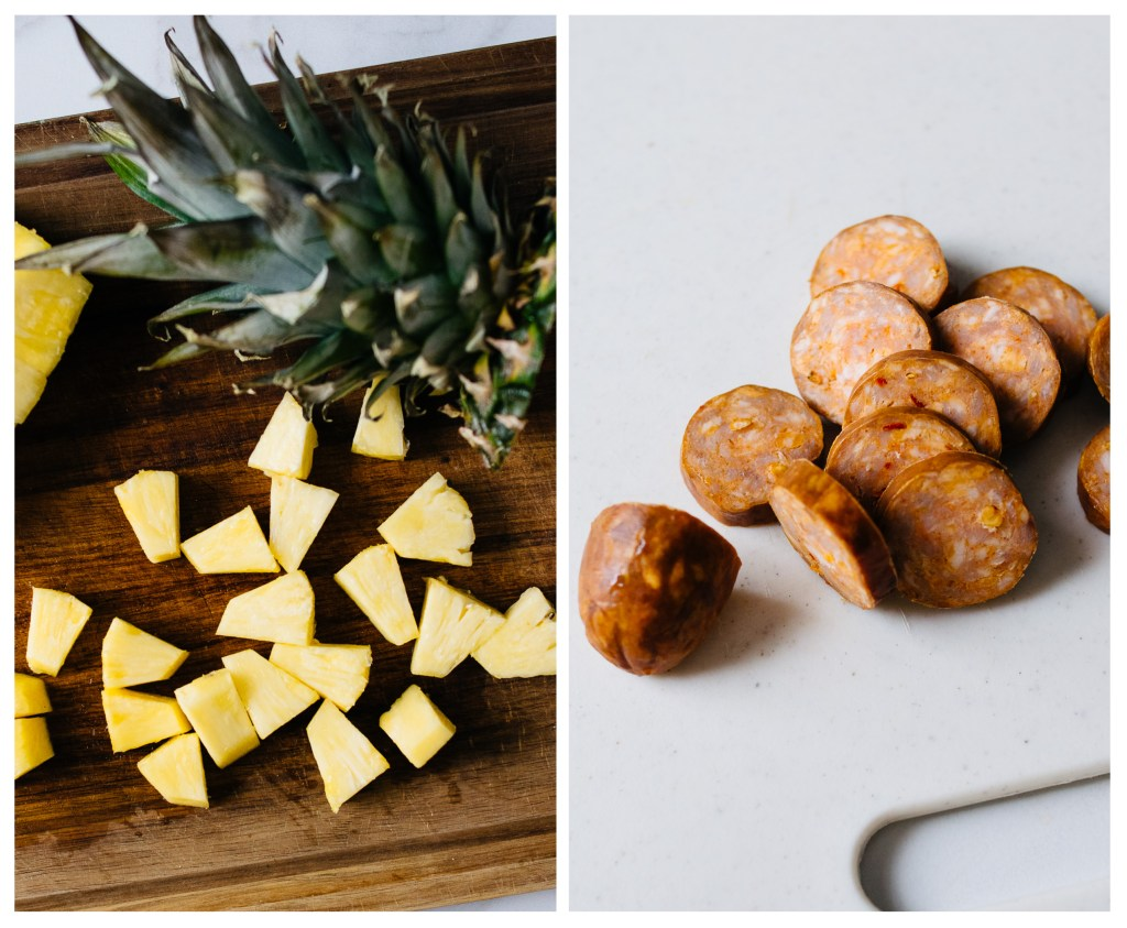 Pineapple, Shrimp, and Sausage Bites Edited | Reclaiming Yesterday
