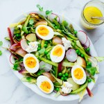 Shaved Asparagus Salad with Soft Boiled Eggs | Reclaiming Yesterday