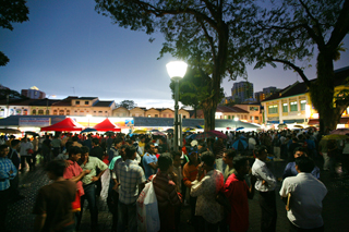Officially known as Lembu Road Open Space, the surging number of Bangladeshis coming here has made this plaza their place, which they call Bangla Square.