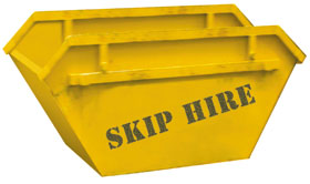 skip hire service, for domestic and commercial use