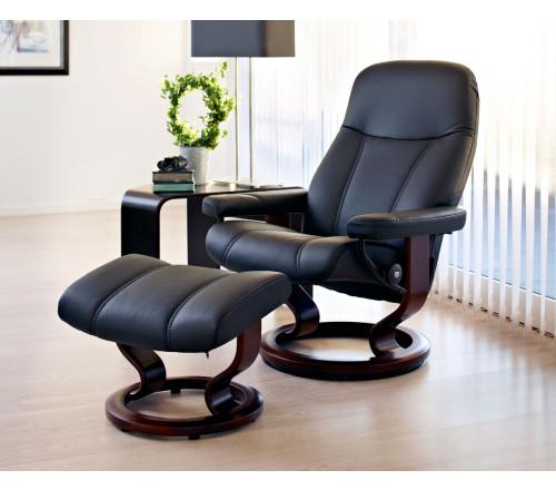 stressless consul classic recliner ottoman