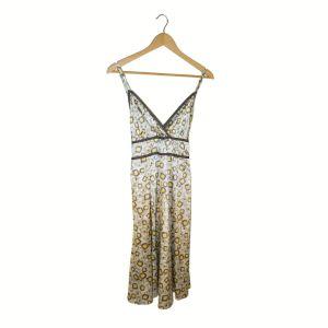 Vestido com padrão geométrico   reCloset roupa em segunda mão