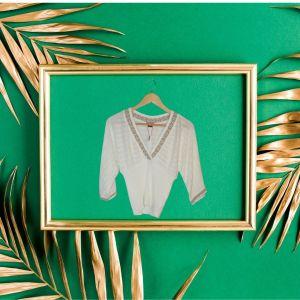 Camisola com detalhe dourado | reCloset roupa em segunda mão
