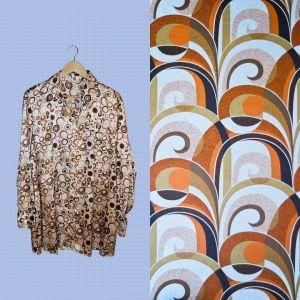 Camisa às bolas 70's style - reCloset roupa em segunda mão