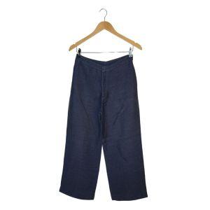 Calças azuis de corte largo - reCloset roupa em segunda mão