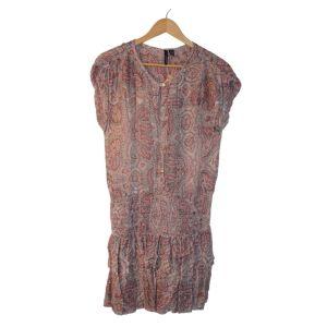 Vestido curto de padrão florido - reCloset roupa em segunda mão