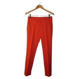 Calças vermelhas vincadas - reCloset roupa em segunda mão