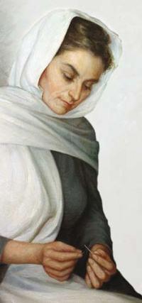 Jeanne Le Ber, la brodeuse A. Lespérance, 1963
