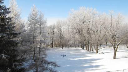 hiver terrain hôtellerie