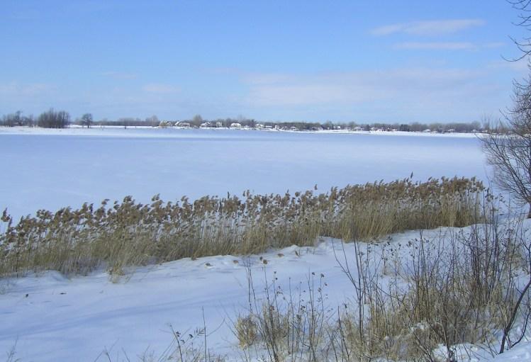 Rivière-des-Prairies devant le monastère