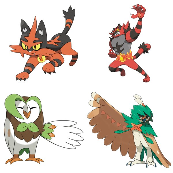 Pokemon Sun and Moon Starter