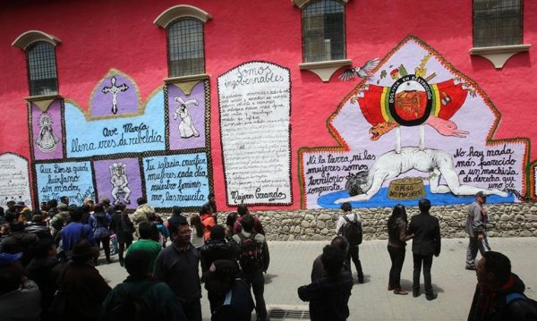 Mural Mujeres Creando Bienal Bolívia