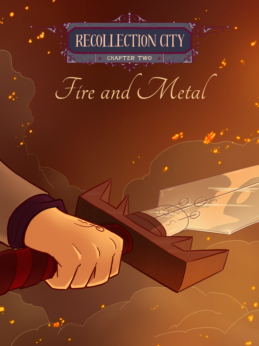 Recollection City chapter 2 cover - Fire and metal