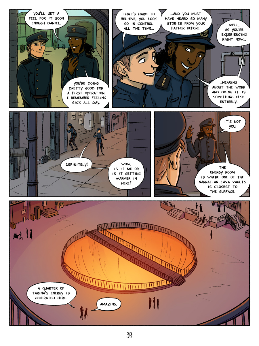 Recollection City page 39 - Energy Room. Lava pits for the win!