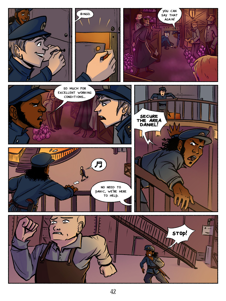 Recollection City page 42 - Excellent working conditions (seriously, they're great!)