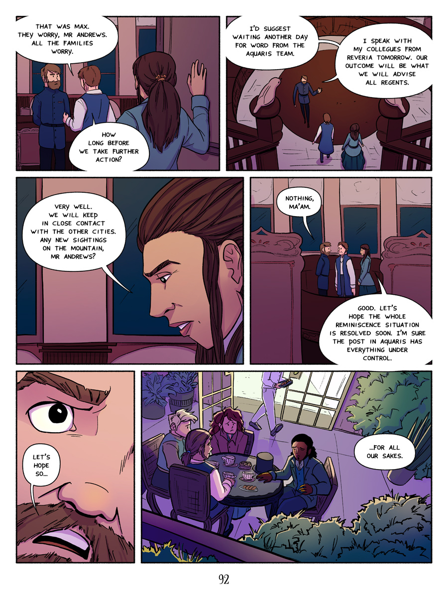 Recollection City webcomic page 92 - The Reminiscence situation