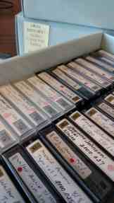 MiniDV tapes at the BVH Center