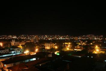 Wieder an meinem Fenster - Nachtausblick.