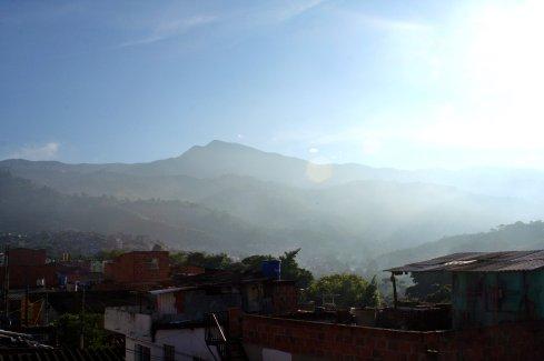 Der Blick an diesem Morgen auf die Berge ...