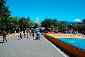 Die Grenze auf der venezolanischen Seite.