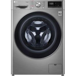 Masina de spalat rufe cu uscator LG F4DN409S2T, Spa Steam, 1400 RPM, Spalare 9 kg / Uscare 5 kg, Clasa A, Motor AI Direct Drive, Smart Diagnosis, WiFi, Argintiu reducere Emag