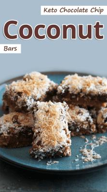 Keto Chocolate Chip Coconut Bars