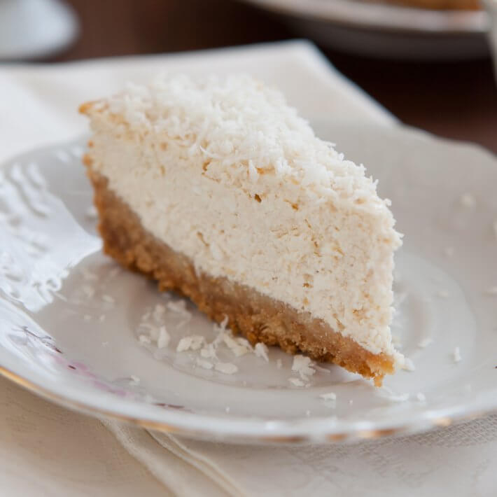 Keto Coconut Cheesecake with Coconut Cream