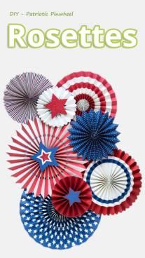 DIY - Patriotic Pinwheel Rosettes