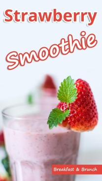Strawberry Oatmeal Breakfast Smoothie