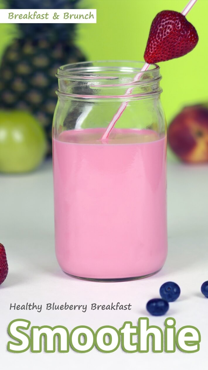 Healthy Blueberry Breakfast Smoothie