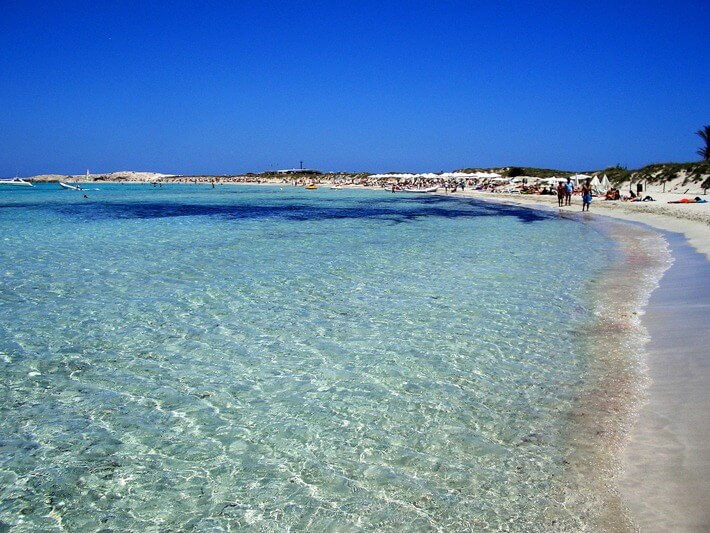 Playa de S'alga on Isla de Espalmador, the Balearics
