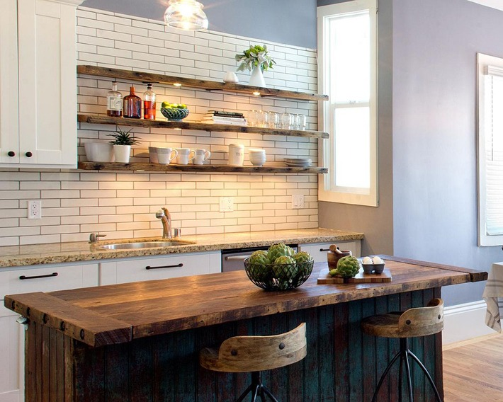 Rustic Shelving Ideas for your Modern Kitchen