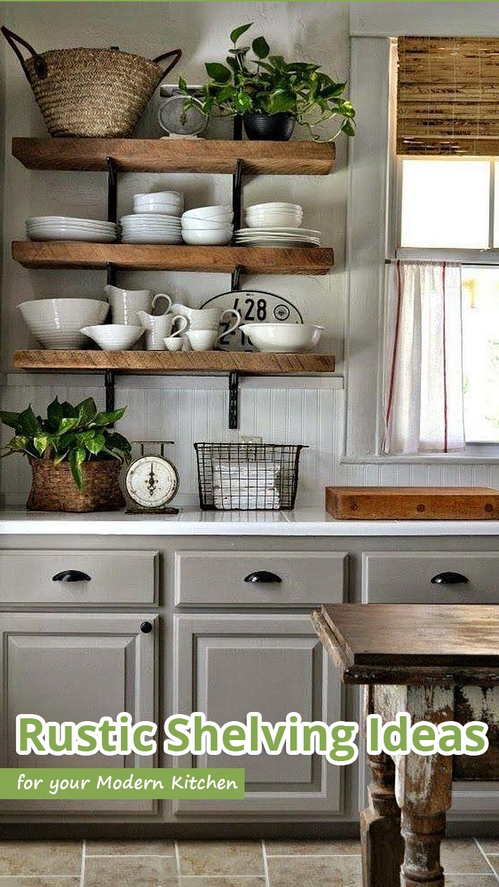 Genial Rustic Shelving Ideas For Your Modern Kitchen