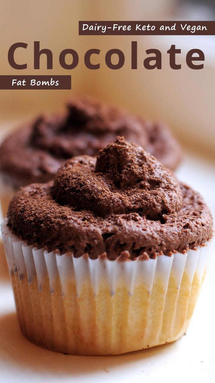 Dairy-Free Keto and Vegan Chocolate Fat Bombs