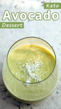 Keto Avocado Dessert