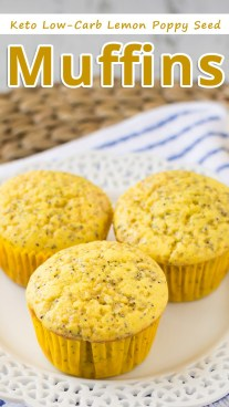 Keto Low-Carb Lemon Poppy Seed Muffins