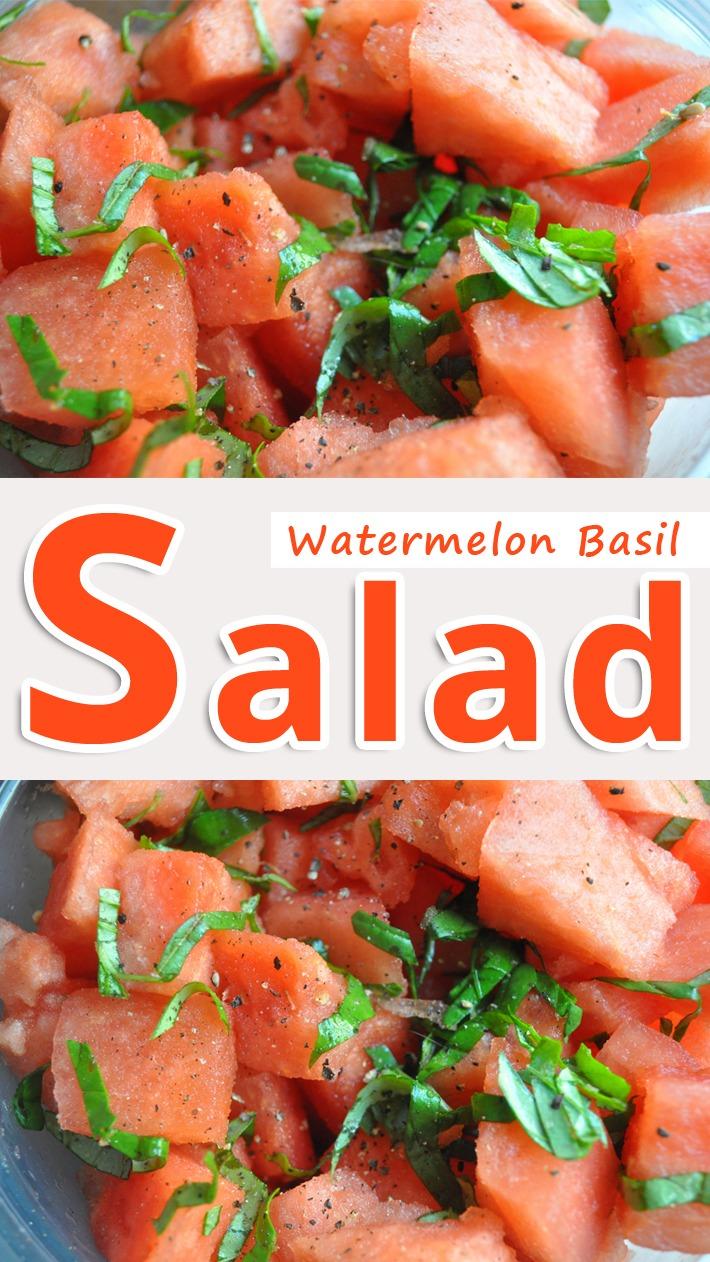 Watermelon Basil Salad