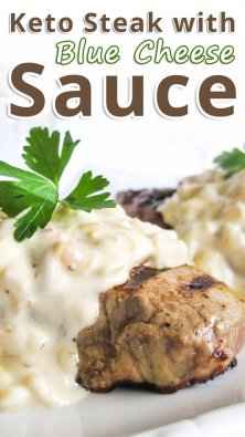 Keto Steak with Blue Cheese Sauce