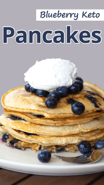 Blueberry Keto Pancakes