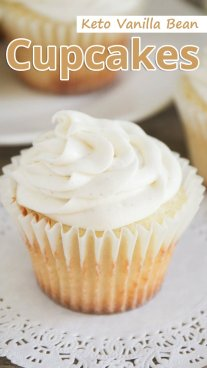 Keto Vanilla Bean Cupcakes