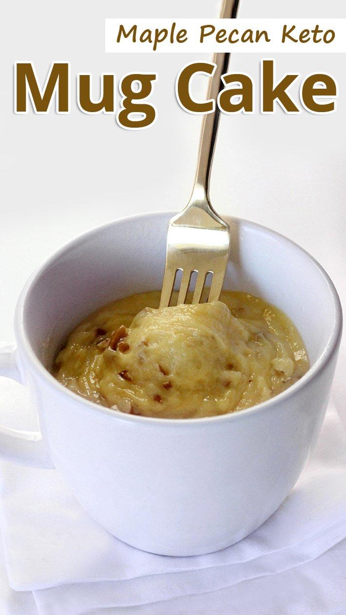 Maple Pecan Keto Mug Cake