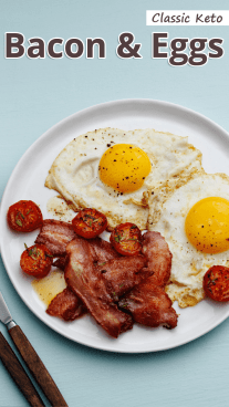 Classic Keto Bacon and Eggs