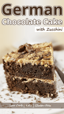 Low Carb German Chocolate Cake with Zucchini