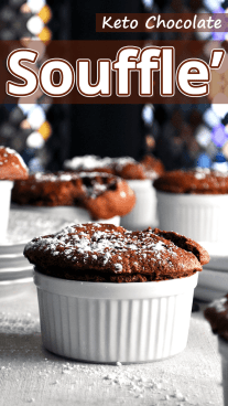Keto Chocolate Souffle'